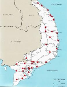 Doelwitten van Noord-Vietnam tijdens het Tet-offensief
