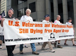 Protest tegen Agent Orange door Vietnam-veteranen