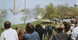 Protest tegen de Vietnam-oorlog op de Kent State University