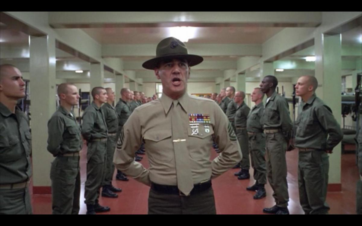 Scene uit Full Metal Jacket